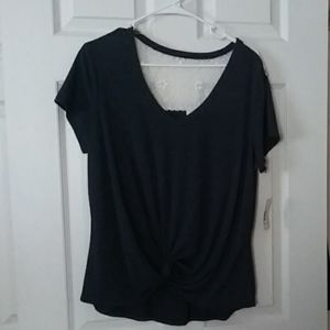 NWT navy blue blouse